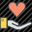 heart, love, outreach icon