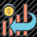 invesment, money, statistics icon