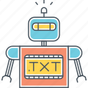 programming, robot, txt icon