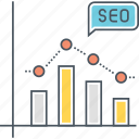analytics, benchmark, graph, seo