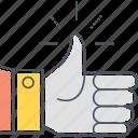 integration, likes, social, thumbs