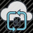 cloud, documents, sychronizing icon