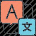 language, localization, translation icon