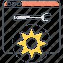 optimization, setting, website icon