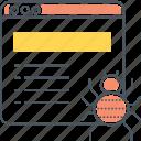 bug, crawler, web icon