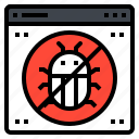 antivirus, block, bug, protection, security icon