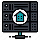 database, home, hosting, server, web icon
