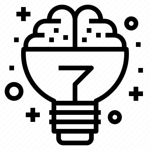 brain, business, creative, idea, lightbulb icon