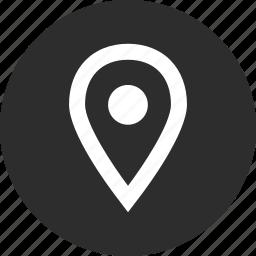 gps, menu, nav, online, pin icon