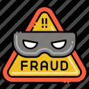 fraud, alarm, alert, warning icon