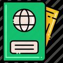 document, id, passport, travel icon