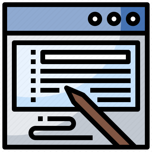 check, computer, interface, method, money, payment, signing icon