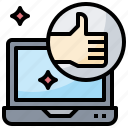 like, rating, thumb, up icon