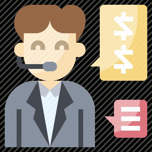 communications, customer, headphones, service, telemarketer icon