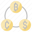currency, dollar, exchange, money, yen icon