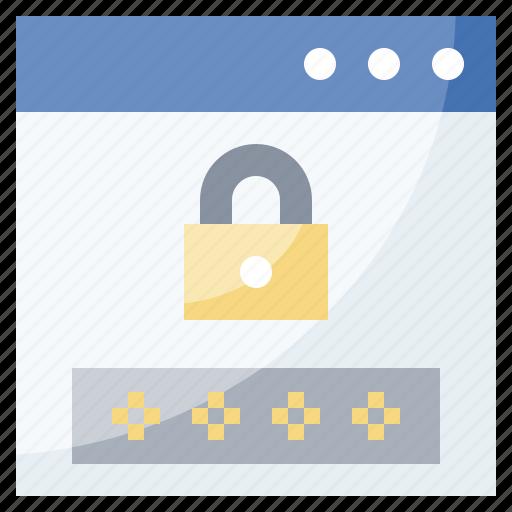 access, code, lock, padlock, password, security, verify icon