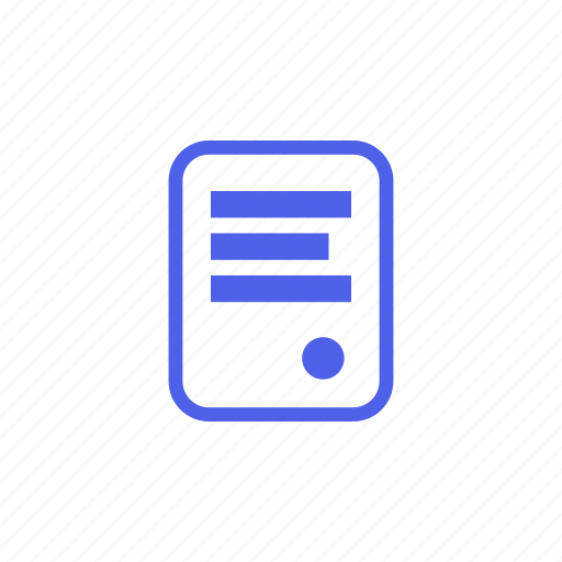 application, document, expense, extract, form, letter, list icon