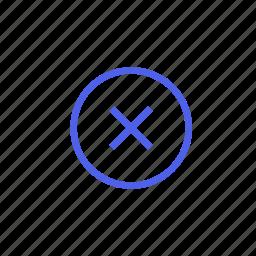 ban, cancel, close, delete, disagree, fail, remove icon