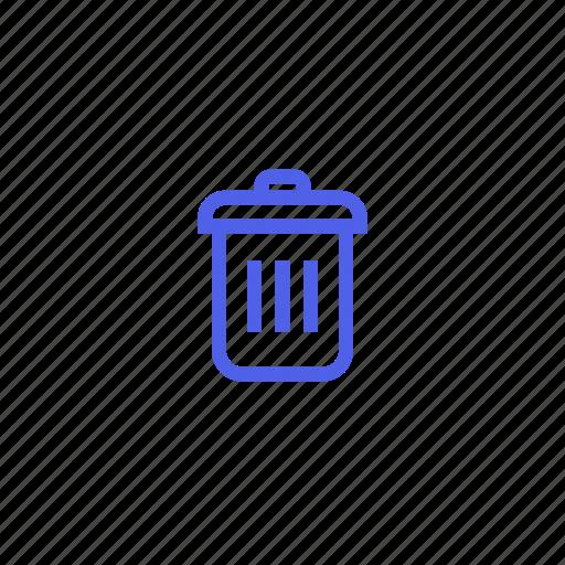 basket, can, delete, remove, trash icon