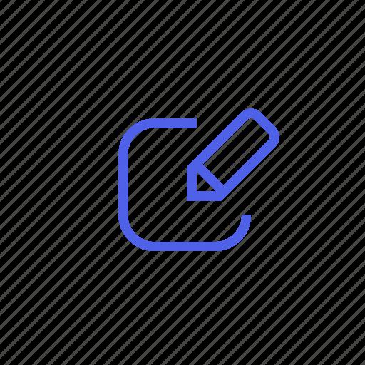 details, edit, form, paint, record, registration, write icon
