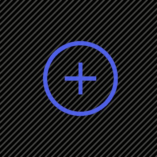 add, attach, closer, increase, more, plus, positive icon