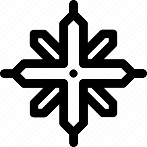 cold, cristal, network, snow, star, winter, xmas icon
