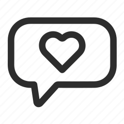 comment, day, heart, romantic icon