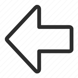 arrow, left, upload icon