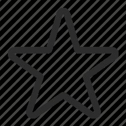 award, favorites, unstar icon