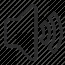 announcement, loud, volume icon