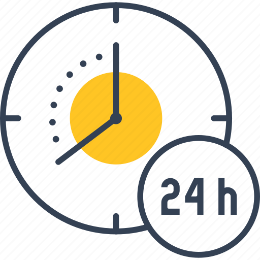 clock, online, payment icon