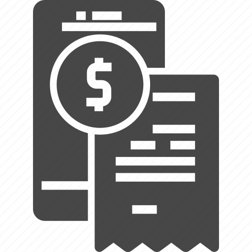 invoice, mobile, mobile banking, online banking, payment icon