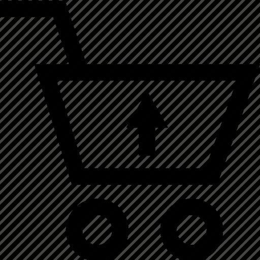 arrow, cart, restore, up icon