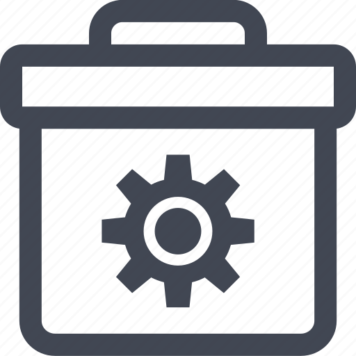 briefcase, business, gear, online, options, pro, professional icon