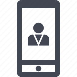 businessman, cell, mobile, person, phone, profile, user icon