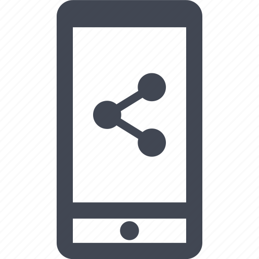 analytics, cell, connection, data, mobile, phone, share icon
