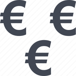 currency, euro, income, money, passive, sign icon