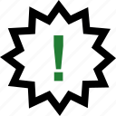 attention, exclamation, save, sign icon