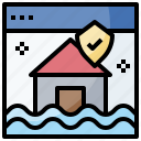 house, insurance, webpage icon