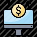 banking, building, dollar, internet, online, promotion