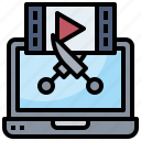 edit, editing, graphic, tools, video, wireframe icon
