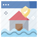 home, house, insurance, protection, umbrella, webpage icon