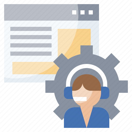Call, center, headset, online, support icon - Download on Iconfinder
