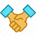 agreement, deal, hand, handshake icon