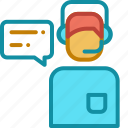 business, ecommerce, online shop, operator icon