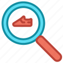 ecommerce, online shop, search, shoes icon