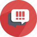 bubble, chat, conversation, dialog, dialogue, speech, speechbubble icon
