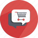 bubble, conversation, dialog, sale, shopping, speech, webshop icon