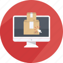 box, delivery, handling, package, shipping, transport icon
