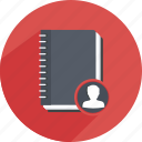 address, agenda, book, call, notebook, planner icon